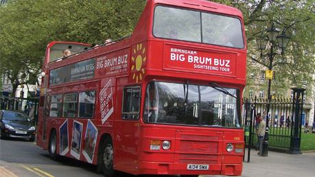 Birmingham Tours Big Brum Open Top Buz Sightseeing Tour